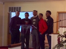 Pastor Ford with Special Guest, Chris Britton (Youth Hope) and the M.A.D Skills Poetry performers!