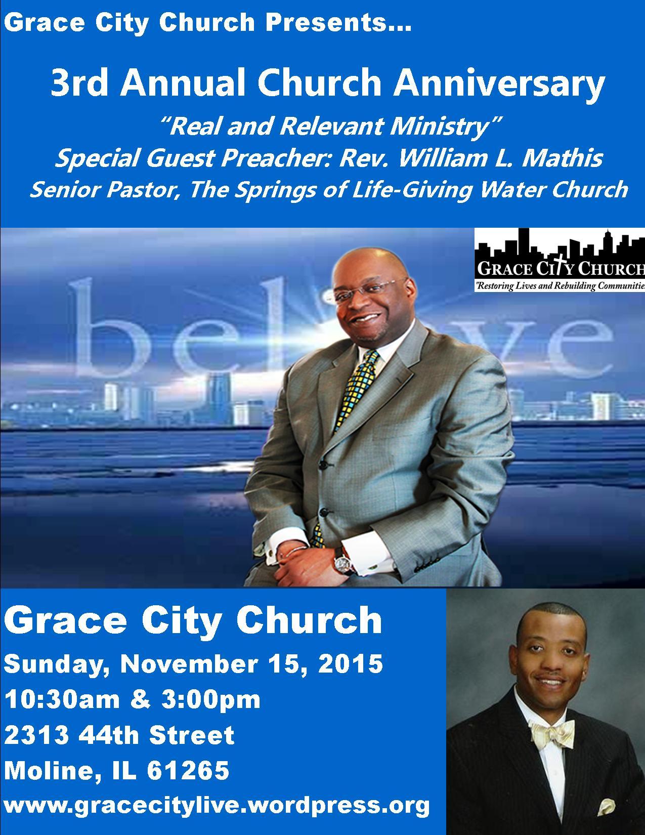3rd Church Anniversary: Sunday At 3pm! – Grace City Church ...