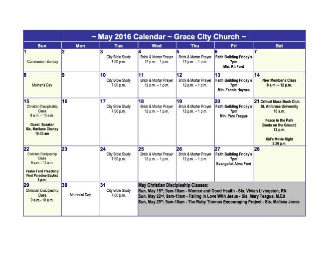 May 2016 Calendar (GCC)