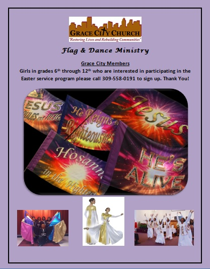 Flag and Dance Ministry Announcement