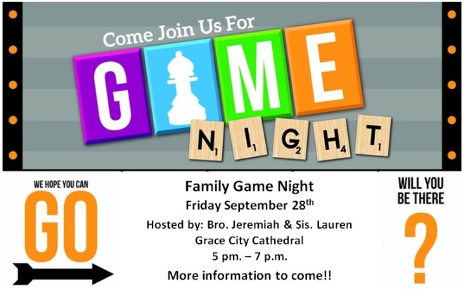 Family Game Night Announcement