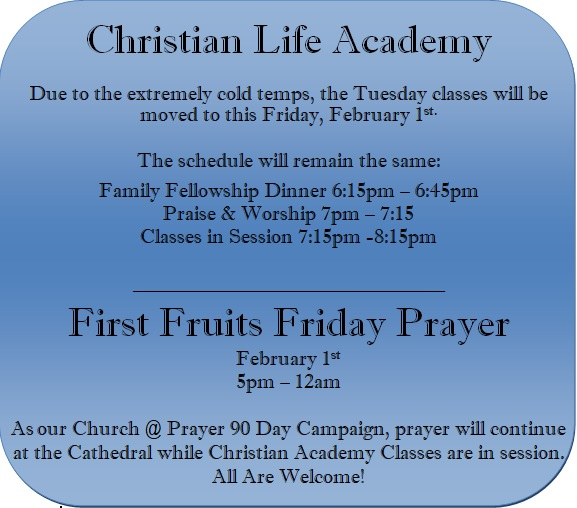 classes and prayer