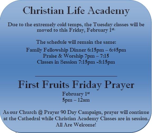 classes and prayer